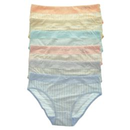 72 Units of Angelina Cotton Hiphuggers Panties with Rhinestone Hearts - Womens Panties & Underwear