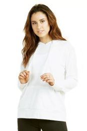 24 Units of Women's Lightweight Pullover Hoodie White - Womens Active Wear