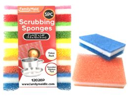 72 Units of 5pc Scrubber Sponges - Scouring Pads & Sponges