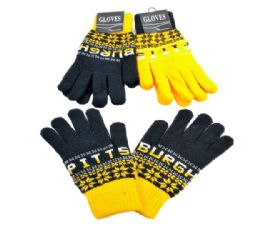 24 Units of Pittsburgh Knitted Glove In Large - Knitted Stretch Gloves
