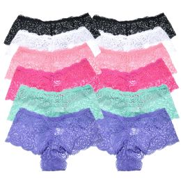 72 Units of Angelina Floral Lace Cheeky Boxers - Womens Panties & Underwear