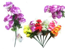 144 Units of 9 Head Rose Flower - Artificial Flowers