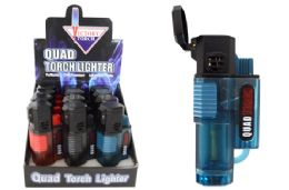 24 Units of Quad Torch Lighter - Lighters