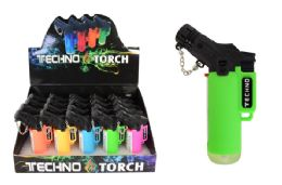 16 Units of Slanted Colorful Torch Lighter - Lighters