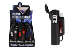24 Units of Triple Torch Lighter Rubber Coated - Lighters