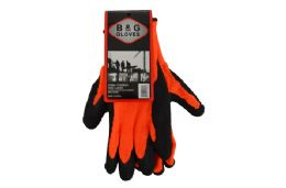 48 Units of NITRILE PALM ORANGE GLOVES - Working Gloves