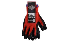 48 Units of Nitrile Palm Red Gloves - Working Gloves