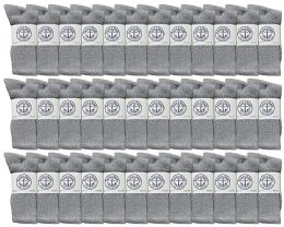 36 Units of Yacht & Smith Mens Wholesale Bulk Cotton Socks, Athletic Sport Socks Shoe Size 8-12 (gray, 36) - Mens Crew Socks