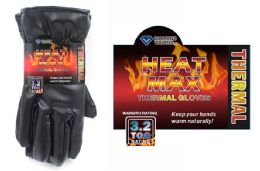 24 Units of Mens Thermal Dress Gloves - Winter Gloves