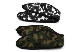 48 Units of Camo Fleece Headband - Winter Wear