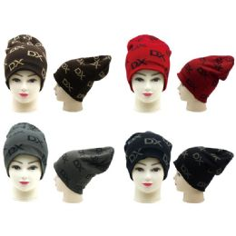 36 Units of Unisex DX Printed Winter Slouchy Hat - Winter Hats