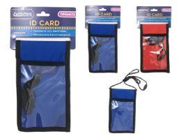 72 Units of Id Pocket W/ Mesh & Strap - ID Holders