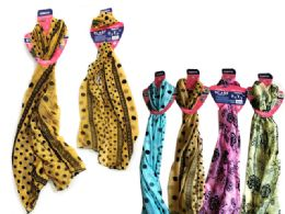 144 Units of Assorted Designs Fashion Scarf - Womens Fashion Scarves