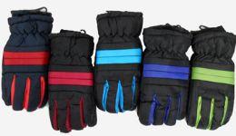 36 Units of Adults Ski Gloves Fleece Lining - Ski Gloves