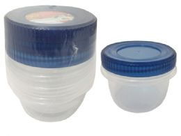 48 Units of 3pc Round Food Container - Food Storage Containers