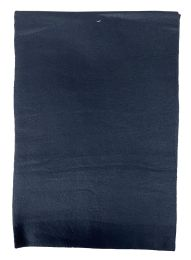 36 Units of Yacht & Smith Solid Black Color Warm Winter Fleece Scarves - Winter Scarves