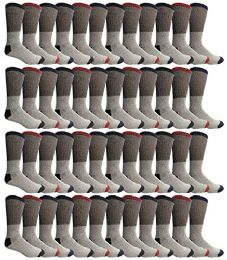 48 Units of Yacht & Smith Womens Cotton Thermal Crew Socks, Cold Weather Boot Sock, Size 9-11 - Womens Thermal Socks
