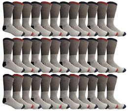 36 Units of Yacht & Smith Womens Cotton Thermal Crew Socks, Cold Weather Boot Sock, Size 9-11 - Womens Thermal Socks