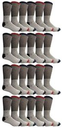 24 Units of Yacht & Smith Womens Cotton Thermal Crew Socks , Warm Winter Boot Socks 10-13 - Womens Thermal Socks
