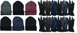 288 Units of Yacht & Smith Men's Winter Care Set, Fleece Gloves And Winter Beanie Set - Winter Care Sets