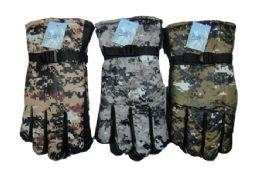 12 Units of Digital Camo Ski Gloves Xtra Larage - Winter Gloves