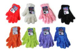 48 Units of Feather Yarn Glove - Winter Gloves