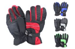 24 Units of Mens Nylon Ski Gloves - Ski Gloves