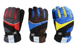24 Units of Mens Ski Gloves Large - Ski Gloves