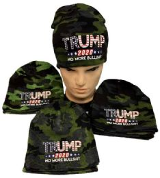 24 Units of Trump 2020 Keep America Great Winter Camo Beanie Hat - Winter Hats