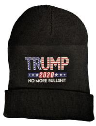 24 Units of Trump 2020 No More Bullshit Black Beanie Hat - Winter Hats