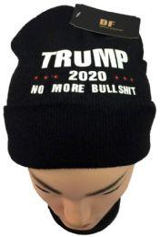 24 Units of Trump 2020 No More Bullshit Black Beanie Hat - Winter Hats
