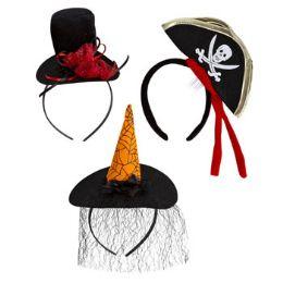 72 Units of 3 Assorted Halloween Headbands - Costumes & Accessories