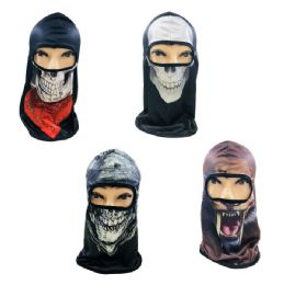 36 Units of Ninja Face Mask [Printed Graphics] - Unisex Ski Masks