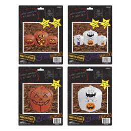 96 Units of Pumpkin Or Ghost Design Leaf Bag - Halloween & Thanksgiving