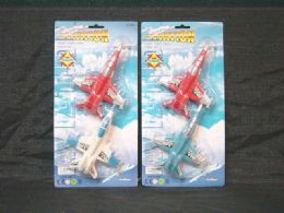 36 Units of 2 Piece Toy Fighter Planes Set - Cars, Planes, Trains & Bikes