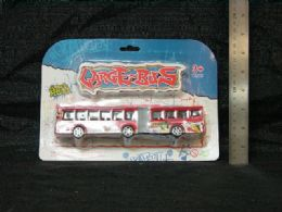 36 Units of Toy 2 Section Bus In Blister Card - Cars, Planes, Trains & Bikes
