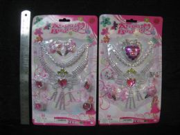 48 Units of Plastic Beauty Play Set With Necklace - Girls Toys