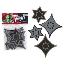 96 Units of Ninja Foam Stars - Foam & Felt