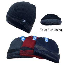 12 Units of Argyle Fold PlusH-Lined Knit Toboggan - Winter Beanie Hats