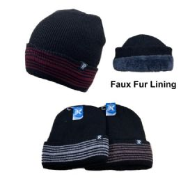 24 Units of PlusH-Lined Knit Toboggan - Winter Beanie Hats