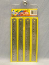 144 Units of 4 PIECE SET STAINLESS STEEL RULER - Rulers