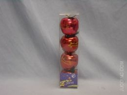 72 Units of Red Apple - Christmas Decorations