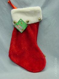 48 Units of Stocking With Gold Bell Christmas - Christmas Decorations
