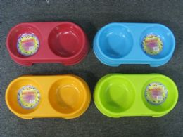 36 Units of PLASTIC DOG BOWL ROUND 2 SECTION - Pet Accessories