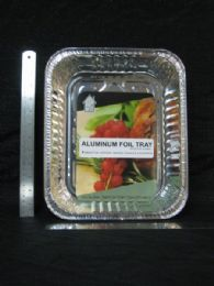 72 Units of ALUMINUM CONTAINER RECTANGLE SHALLOW TRAY - Aluminum Pans