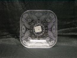 36 Units of Clear Square Bowl With Star - Serving Trays