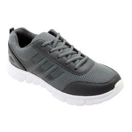 12 Units of Men's Lightweight Casual Sneakers In Grey - Men's Sneakers