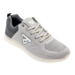 12 Units of Men's Casual Athletic Sneakers In Light Grey - Men's Sneakers