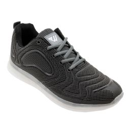 12 Units of Men's Casual Athletic Sneakers In Black - Men's Sneakers