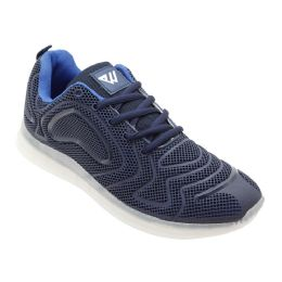 12 Units of Men's Casual Athletic Sneakers In Navy - Men's Sneakers
